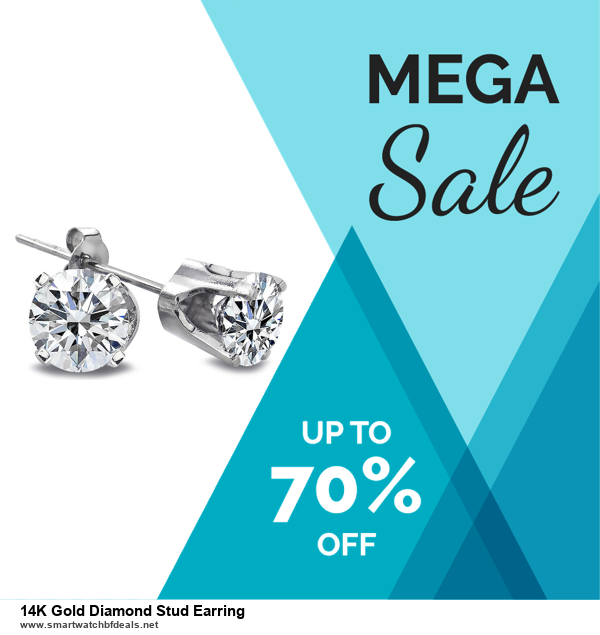 9 Best Black Friday and Cyber Monday 14K Gold Diamond Stud Earring Deals 2020 [Up to 40% OFF]