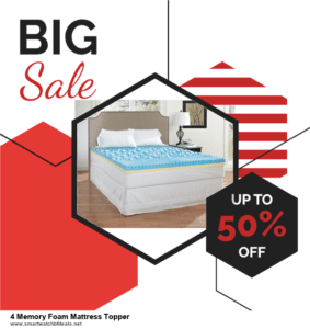 9 Best 4 Memory Foam Mattress Topper Black Friday 2020 and Cyber Monday Deals Sales