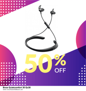 List of 6 Bose Quietcomfort 30 Qc30 Black Friday 2020 and Cyber MondayDeals [Extra 50% Discount]