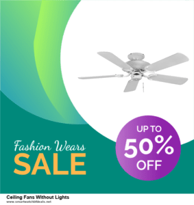 7 Best Ceiling Fans Without Lights Black Friday 2020 and Cyber Monday Deals [Up to 30% Discount]