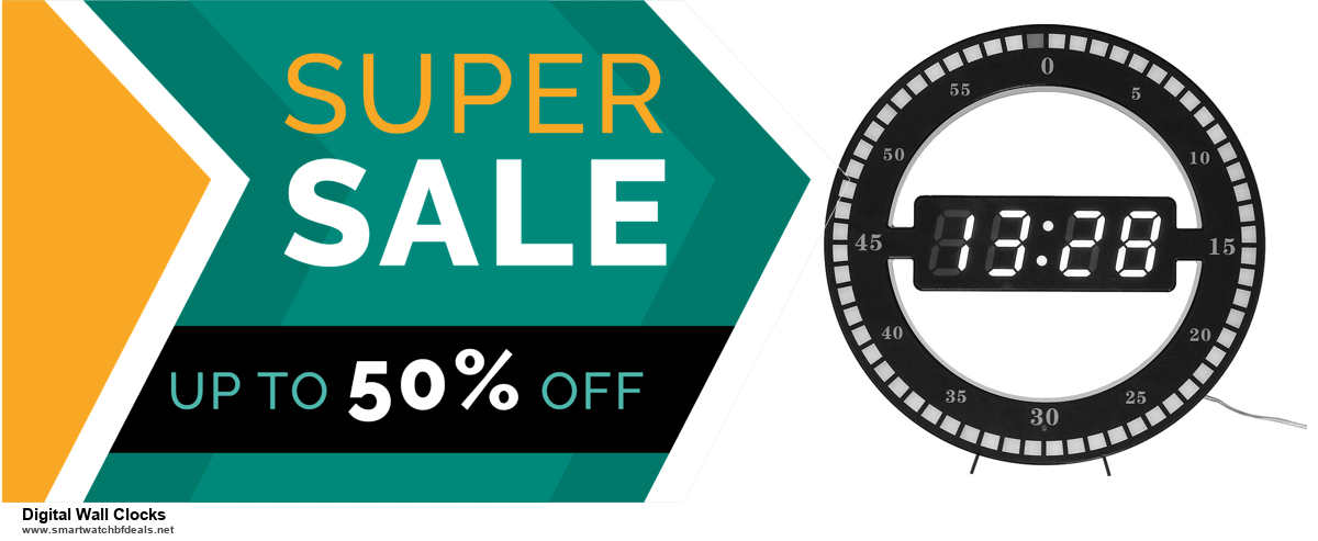 Top 5 Black Friday and Cyber Monday Digital Wall Clocks Deals 2020 Buy Now