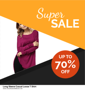 5 Best Long Sleeve Casual Loose T Shirt Black Friday 2020 and Cyber Monday Deals & Sales