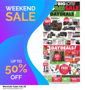 9 Best Black Friday and Cyber Monday Marshalls Sales Ads 25 Deals 2020 [Up to 40% OFF]