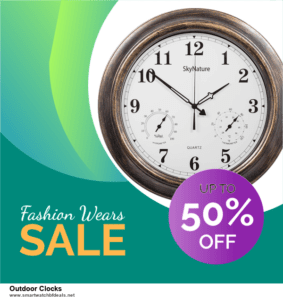 List of 10 Best Black Friday and Cyber Monday Outdoor Clocks Deals 2020