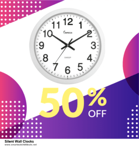 13 Best Black Friday and Cyber Monday 2020 Silent Wall Clocks Deals [Up to 50% OFF]