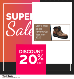 Top 10 Work Boots Black Friday 2020 and Cyber Monday Deals